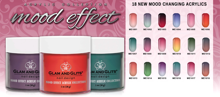 Acrylic systems colored acrylic powders glam and glits - Colors effect on mood ...